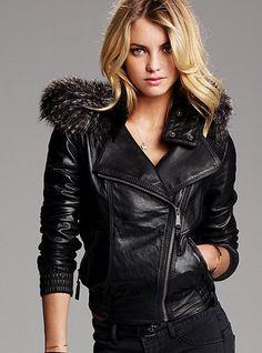 Kanti Black Perforated Bomber Leather Jacket | Black leather ...