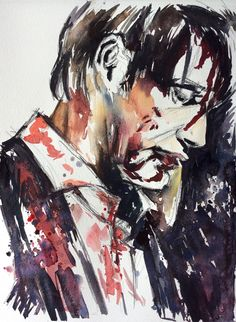 Hannibal, watercolor on paper.