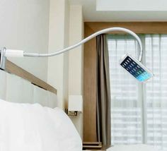 This gooseneck lazy wall mount ($48). I need this bc my arms get tired when I'm laying down and on my phone!!