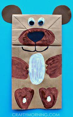 Paper Bag Bear Puppet Kids Can Make - Crafty Morning