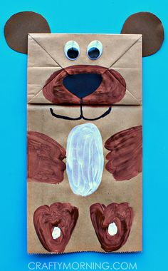 Paper Bag Bear Puppet Kids Can Make - Crafty Morning