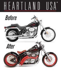 "16 Me gusta, 2 comentarios - Heartland USA (@heartlandbiker) en Instagram: ""Transformation Tuesday @heartlandbiker 250 Bobber Conversion! #heartlandbiker #heartlandusa…"""