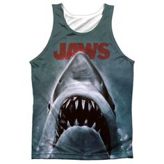Mens Jaws Poster Sublimation Tank Top