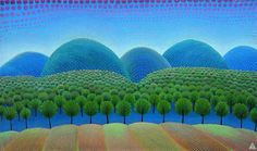 On the Hills - Primeval Forest by Ivan Rabuzin at the Croatian Museum of Naive Art in Zagreb. Henri Rousseau, Ivan Rabuzin, Pop Art, The Doors Of Perception, Zagreb Croatia, Naive Art, Outsider Art, Figure Painting, Art Google