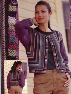 Chaqueta Interesante en varios colores (de los restos de hilo) | crochet patchwork y tejer | Poste
