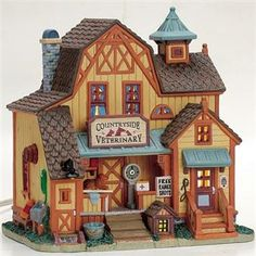 Lemax Harvest Crossing Lighted Building: Countryside Veterinary #75533 - American Sale