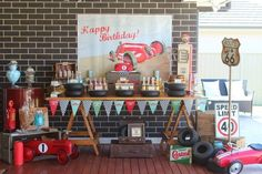 boy's vintage cars birthday party www.spaceshipsandlaserbeams.com