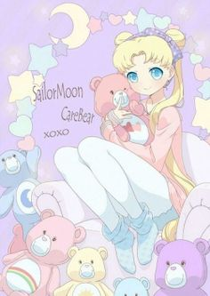Sailor Moon And Care Bears, Unknown Artist.