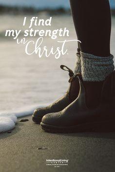 I put my hope in Christ.