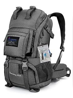 Oxking Mountaintop Outdoor Hiking Climbing Backpack Daypacks Rainproof Mountaineering Bag M5811 Shoulder Bag 30L-50L Unisex High-capacity Trekking Travel Bag Rucksack Loptop Bags + Free Gift + Nail Clippers Multi Colours (Gray, 35L): Amazon.ca: Sports & Outdoors