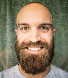 Bald Head With Beard, Bald Men With Beards, Great Beards, Hairy Men, Bearded Men, Beard Styles For Men, Hair And Beard Styles, Cool Mustaches, Beard Shapes