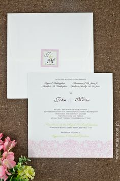 Fresh Start | Written in Ink #wedding #invitation #winkinvitations #damask #square #pink #floral Start Writing, Fresh Start, Damask, Holi, Wedding Invitations, Place Card Holders, Floral, Pink, New Start