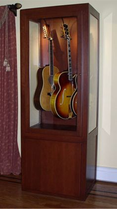 Guitar Display Case Cabinets | Woodwork | Pinterest | Guitar Display Case,  Guitar Display And Display Case