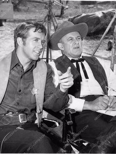 photo Clu Gulager Lee J. Cobb TV western show The Virginian 1213-10