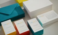 Fun colors for edge painting, envelopes. Letterpress.