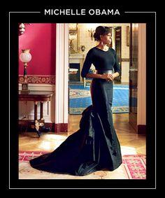 Michelle Obama Fashion, Barack And Michelle, Michelle Obama Black Dress, Joe Biden, Beautiful Black Women, Beautiful People, Annie Leibovitz Photography, Barack Obama Family, Obamas Family