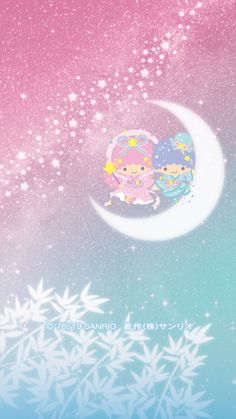 Image discovered by Find images and videos about wallpaper, sanrio and little twin stars on We Heart It - the app to get lost in what you love. Galaxy Wallpaper Iphone, Hello Kitty Iphone Wallpaper, Sanrio Wallpaper, Star Wallpaper, Kawaii Wallpaper, Cartoon Wallpaper, Hello Kitty Characters, Sanrio Characters, My Melody Sanrio