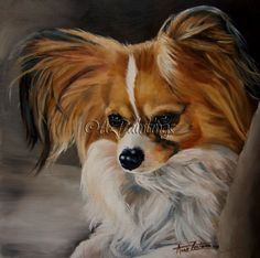Papillon Fringes - original oil, painting by artist Anne Zoutsos