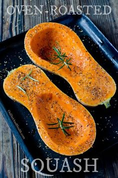 Oven Roasted Pumpkin and Squash // Oven roasted pumpkin and squash puree makes great Paleo breads, muffins and pancakes.  Make an oven full of winter squashes at one time, and freeze the puree for later! // @ondietandhealth