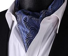 Navy Blue Grey Floral Men 100%Silk Cravat Ties Jacquard Woven Casual Ascot Fengbay http://www.amazon.com/dp/B00N5M8VT2/ref=cm_sw_r_pi_dp_ve7Evb0V7D46Z