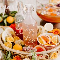 For a gal who loves bright colors and boho details, this orange citrus bridal shower is just the thing! This couldn't be more true of the adorable bride-to-be whose bridesmaids took a few of her favorite things and showered her with the perfect party. Cupcake Torte, Cupcakes, Tropical Bridal Showers, Summer Bridal Showers, Baby Showers, Tropical Party, Bridal Shower Desserts, Bridal Shower Games, Signs For Bridal Shower