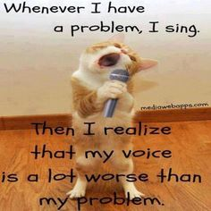 I'm actually not a bad singer but I just love this cat.