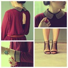 (c/o Dahlia Boutique dress (get it here) / H belt / Michael Kors tote bag & watch / ALDO booties)