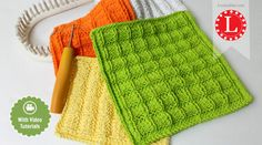 knitting dishcloth loom ideen Looms Knitting Patterns Dishcloth / Washcloth / Bath cloth / Towel Waffle Stitch with Video Tutorial by Loomahat Round Loom Knitting, Loom Knitting Stitches, Knifty Knitter, Loom Knitting Projects, Hand Knitting, Loom Knitting For Beginners, Knitting Videos, Knitted Washcloth Patterns, Knitted Washcloths