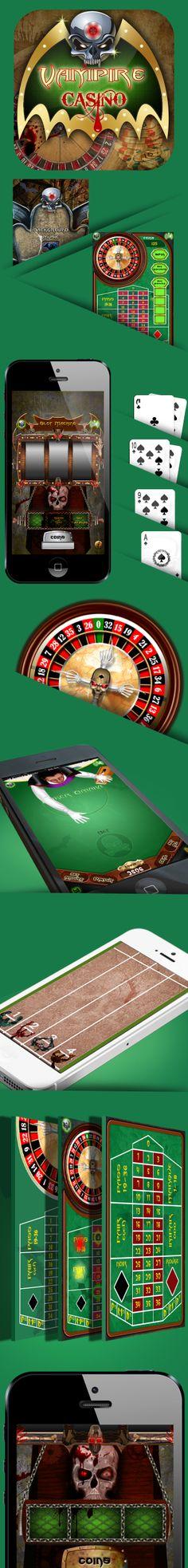 Vampire Casino by Teks Mobile, via Behance