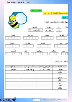 أقوي موسوعة أوراق عمل في اللغة العربية من الصف الأول للصف السادس Arabic Alphabet Letters, Arabic Alphabet For Kids, Alphabet Worksheets, Preschool Worksheets, Learning Arabic For Beginners, School Book Covers, Learn Arabic Online, Arabic Lessons, Arabic Language