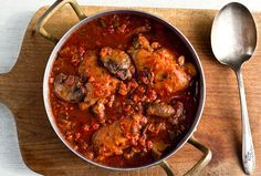 Chicken Cacciatore With Mushrooms, Tomatoes and Wine -- add kale to it!