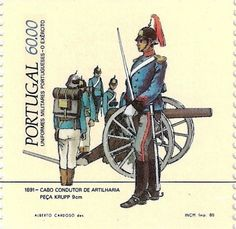 Stamp: Portuguese Military Uniforms - Army (Portugal) (Portuguese Military Uniforms - Army) Mi:PT 1647C,Afi:PT 1685A