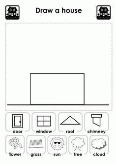 Worksheet Kindergarten Home 2015: free worksheets for kindergarten parts of the house with english ,