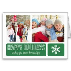 MODERN SNOWFLAKE | HOLIDAY GREETING CARD