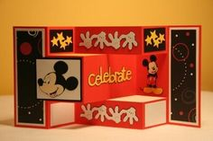 Mickey Mouse Celebrate Card Happy Birthday | NicolesPaperTouch - Cards on ArtFire