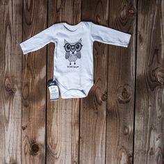 Long sleeve vest Owl black glasses Newborn / 12-18 months