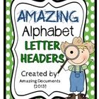 Amazing Polka Dot - Alphabet Header - FREE    These are large printable letters of the English Alphabet from A to Z.    This packet includes each respe...