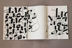 Calligraphy Books -by Marta Cortese via Behance