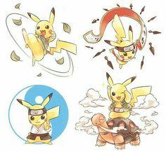 Team Guy, Rock Lee, Tenten, Neji, Might Guy, Pikachu, Naruto, crossover, cool, cute, Torkoal, cosplay; Pokémon