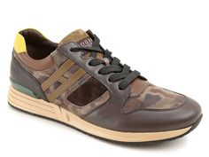 Hogan Rebel Sneaker R218 with camouflage suede - Italian Boutique €198