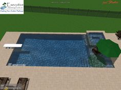 Rectangular Pool Designs custom pool design - rectangular pool with flush spa, sunledge