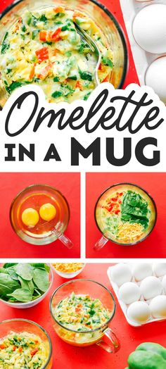 Craving a savory breakfast but running low on time? This Veggie Mug Omelette is easy, delicious, and ready in less than 5 minutes! It's a flavor packed healthy breakfast idea that's perfect for busy weekdays. #breakfast #omelette #microwave #vegetarian #vegetables Healthy Vegetable Recipes, Best Vegetarian Recipes, Healthy Recipes On A Budget, Budget Meals, Healthy Foods, Healthy Vegetarian Breakfast, Delicious Breakfast Recipes, Brunch Recipes, Breakfast Omelette
