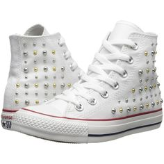 Converse Chuck Taylor All Star Canvas Studs Hi Women's Lace up casual... ($43) ❤ liked on Polyvore