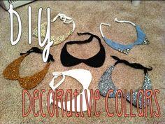 DIY: Decorative Collar Necklaces