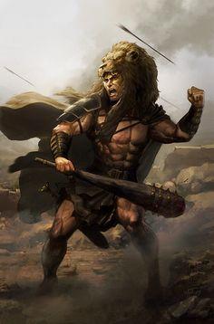 Hercules wearing lions skin