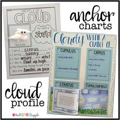 Teaching and learning about clouds can be SO fun! You kindergarten, first grade, and second grade kiddos will love analyzing the sky, identifying different kinds of clouds, and determining the weather based on their cloud knowledge. Here are some fun clou