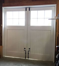 Carriage Doors Built from Scratch - The Garage Journal Board Swing Out Garage Doors, Barn Door Garage, Sliding Garage Doors, Carriage Garage Doors, Garage Door Design, Shed Doors, House Doors, Garage House, Garage Door Makeover