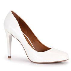 Sapato Scarpin Feminino Bruna Rocha - Branco