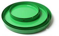 Green metal tray by Rie Elise Larsen via darlingthings.se
