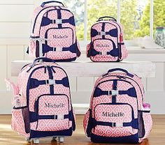 Kids' Backpacks, Personalized Backpacks & Book Bags | Pottery Barn Kids Moroccan Geo